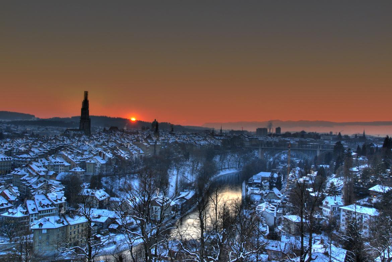 Sonnenuntergang Bern